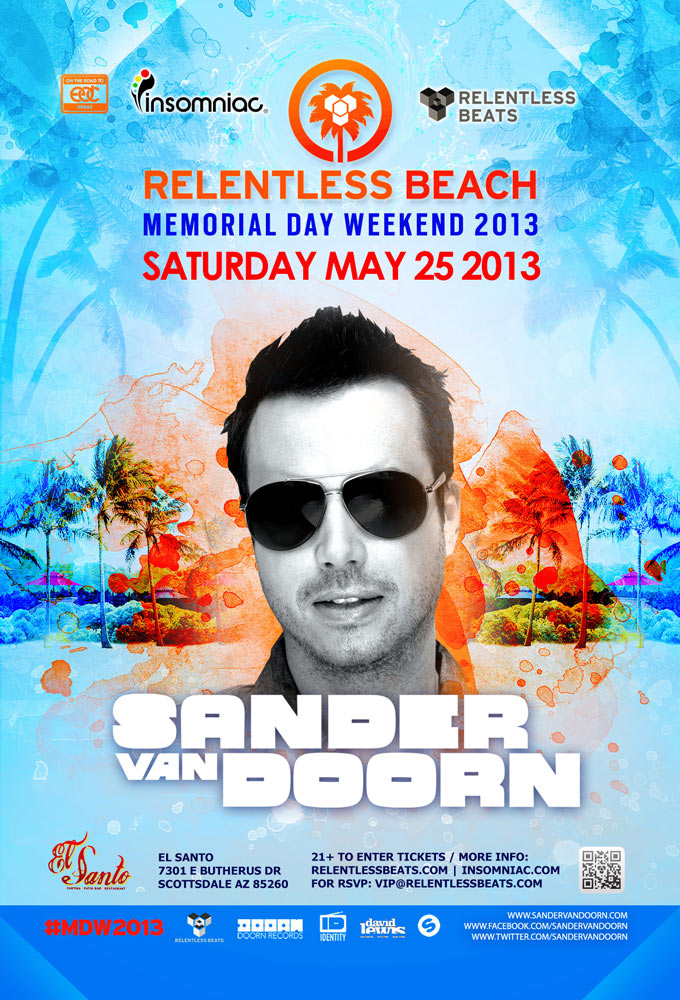 Sander van Doorn @ Relentless Beach - #MDW2013 on 05/25/13