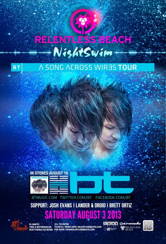 BT @ Relentless Beach Night Swim on 08/03/13