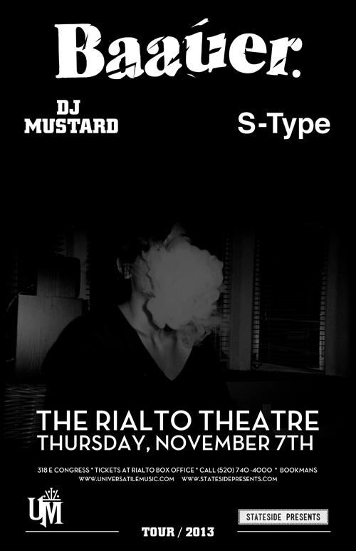 Baauer @ Rialto Theater on 11/07/13