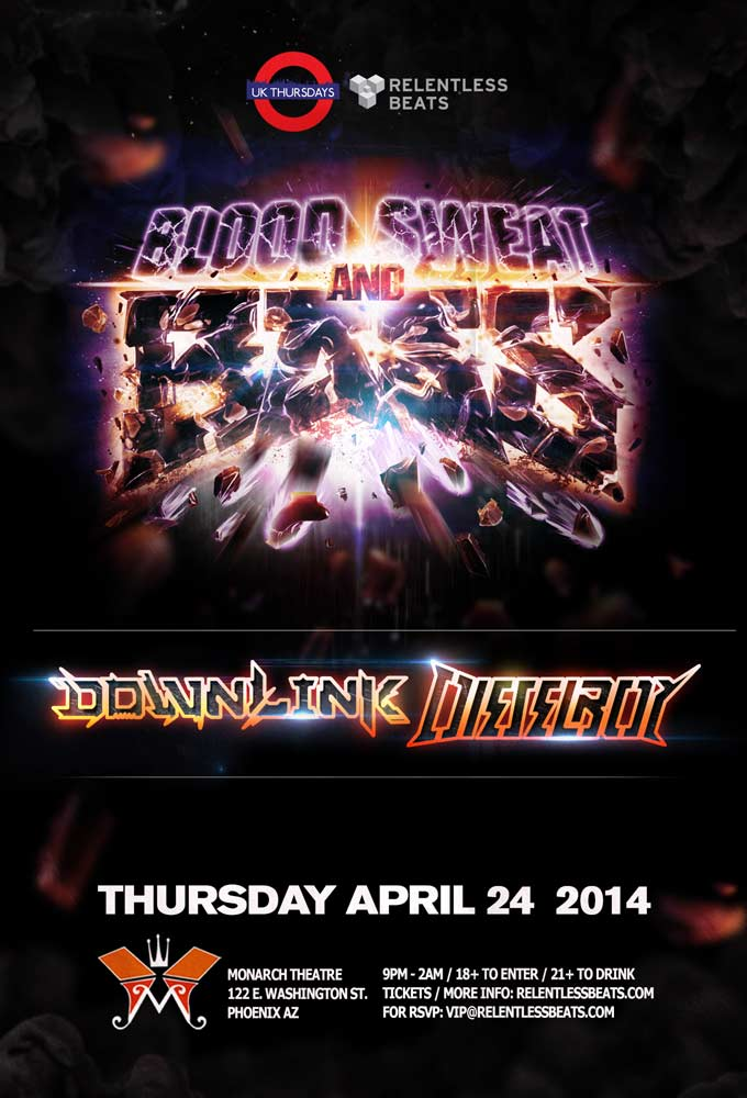 Downlink & Dieselboy @ UK Thursdays - Blood, Sweat, Bass Tour on 04/24/14