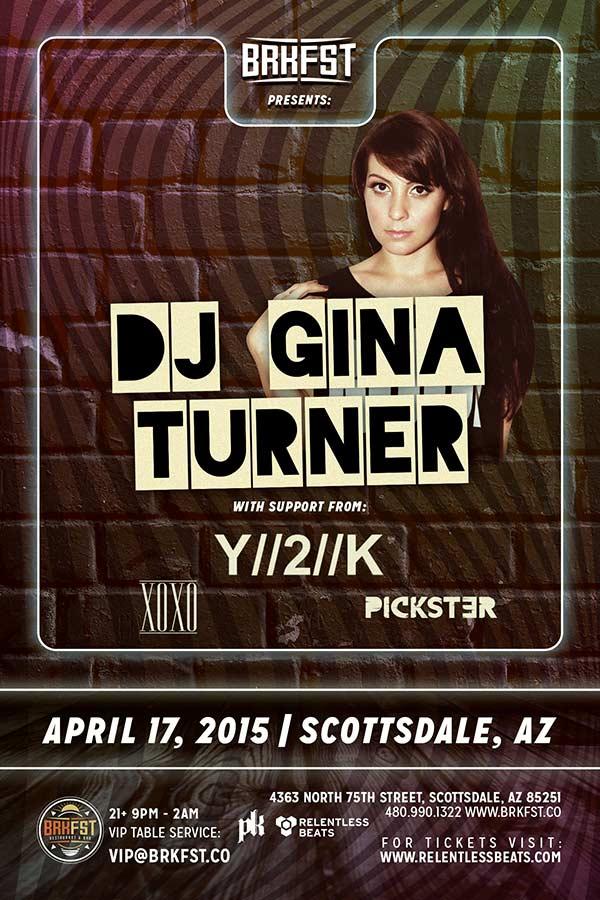 Gina Turner @ BRKFST on 04/17/15