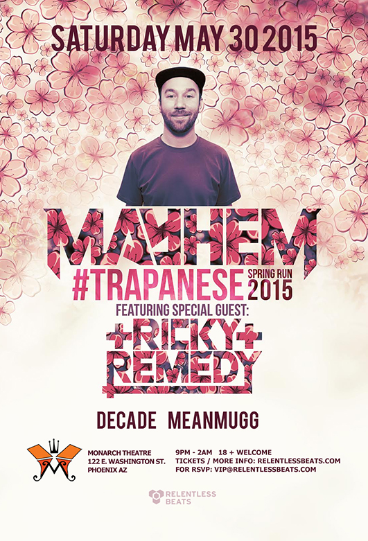 Mayhem + Ricky Remedy @ Monarch Theatre on 05/30/15
