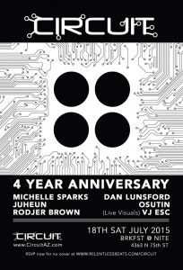 Circuit 4 Year Anniversary on 07/18/15