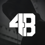 DJ 4B Black Logo