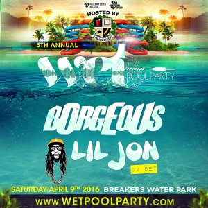 Wet Pool Party ft Borgeous, Lil Jon on 04/09/16