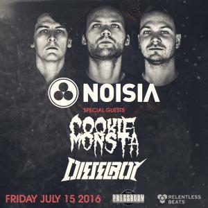 Noisia, Cookie Monsta, & Dieselboy on 07/15/16