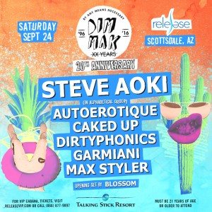Steve Aoki - Dim Mak 20th Anniversary on 09/24/16