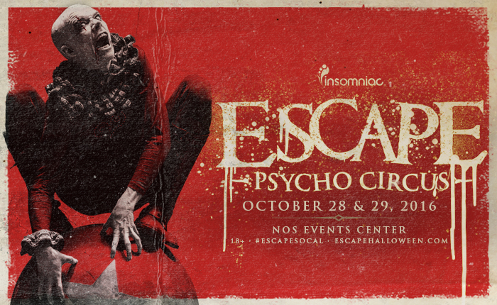 insomniac drops diverse lineup for escape psycho circus