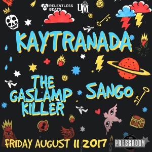 Kaytranada + The Gaslamp Killer + Sango on 08/11/17