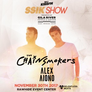 KISS FM SSIK Show ft. The Chainsmokers, Alex Aiono on 11/30/17