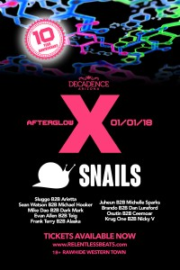 Afterglow X ft. Snails - Decadence Afterparty on 01/01/18