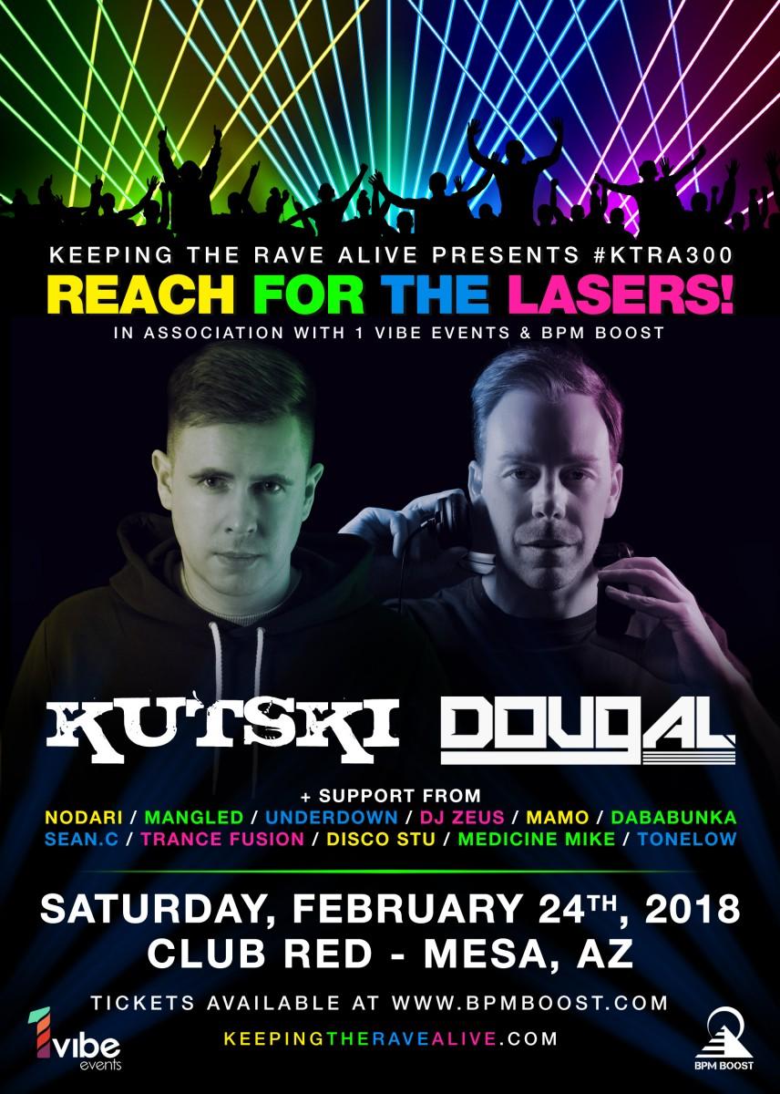 Flyer for Keeping The Rave Alive ft. Kutski & Dougal