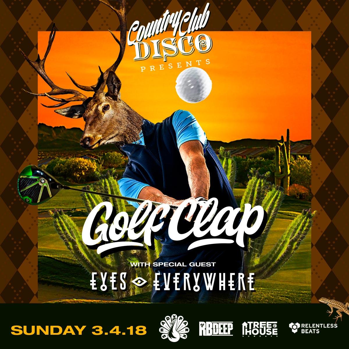 Flyer for Golf Clap + Eyes Everywhere