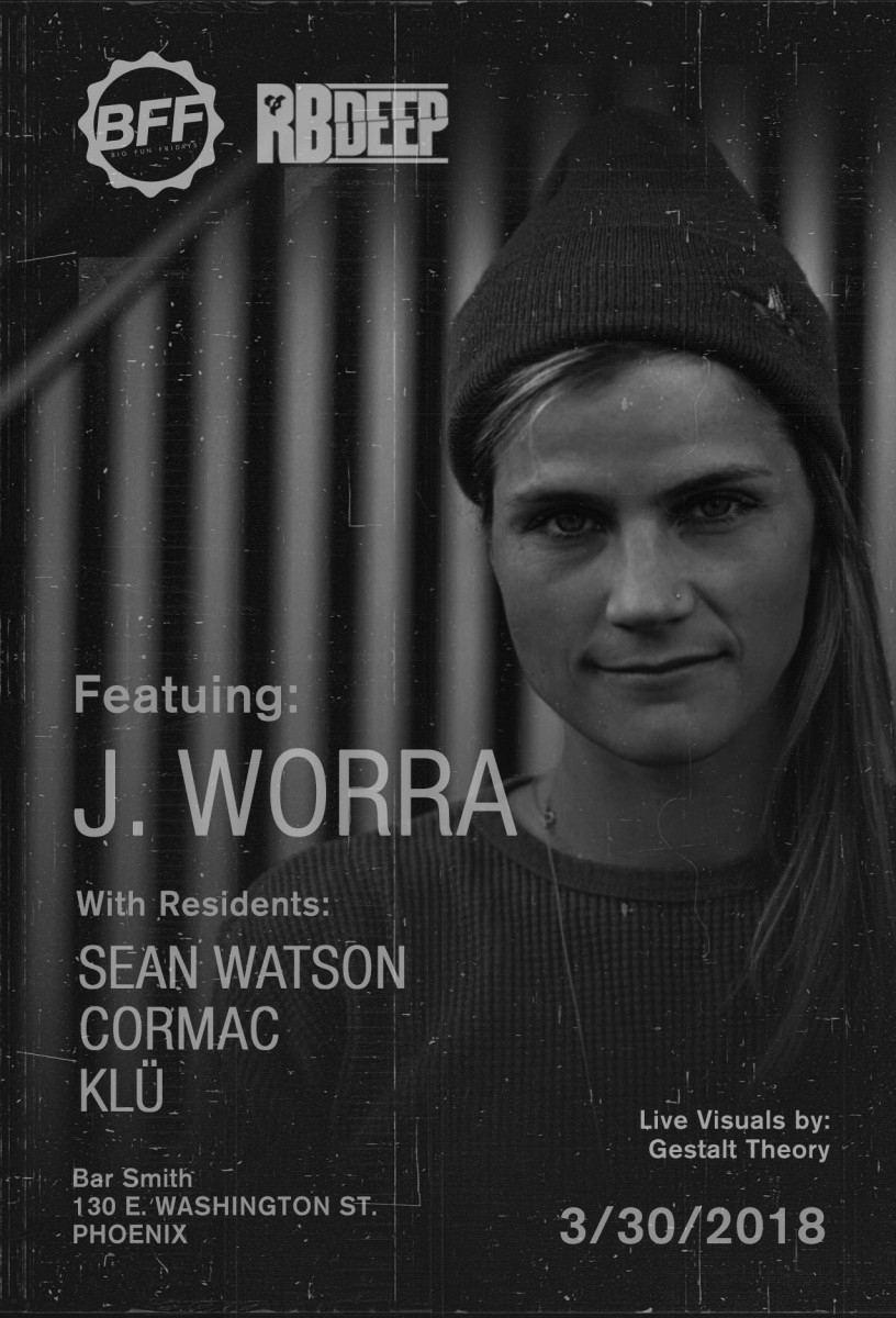 Flyer for J. Worra at BFF