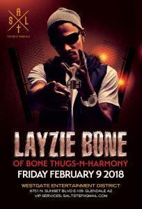 Layzie Bone of Bone Thugs-N-Harmony on 02/09/18