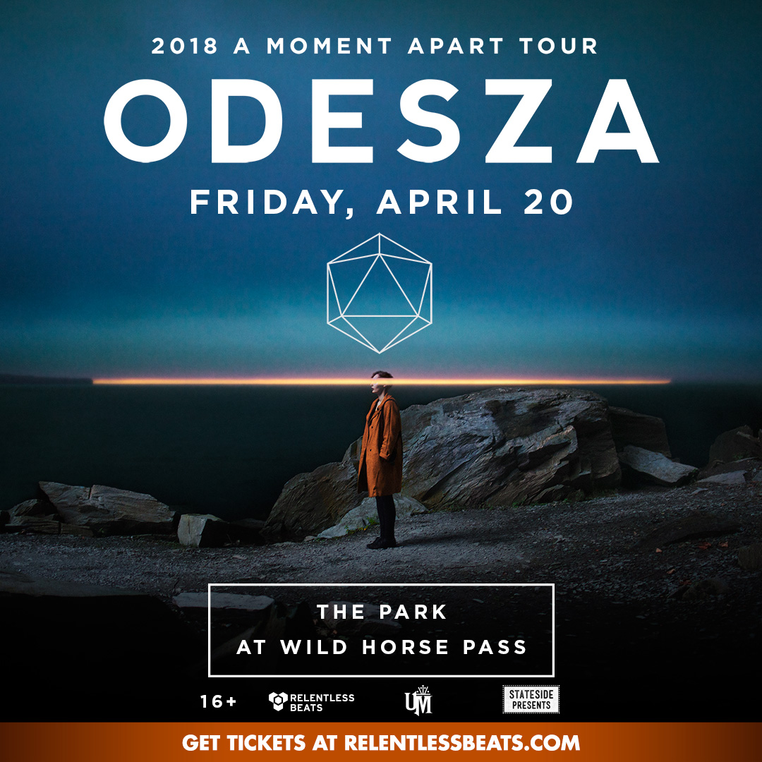 Flyer for Odesza: 2018 A Moment Apart Tour