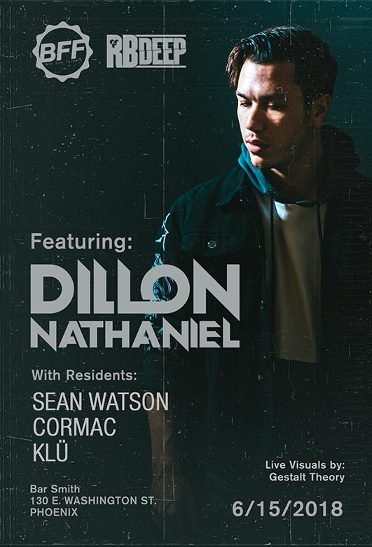 Flyer for Dillon Nathaniel at BFF