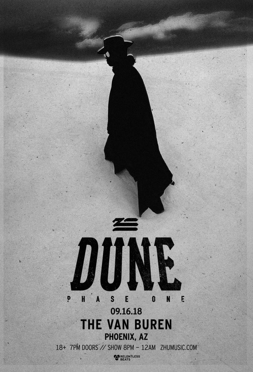 Flyer for ZHU: DUNE TOUR 2018