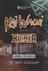 Kai Wachi + Krimer on 04/19/18