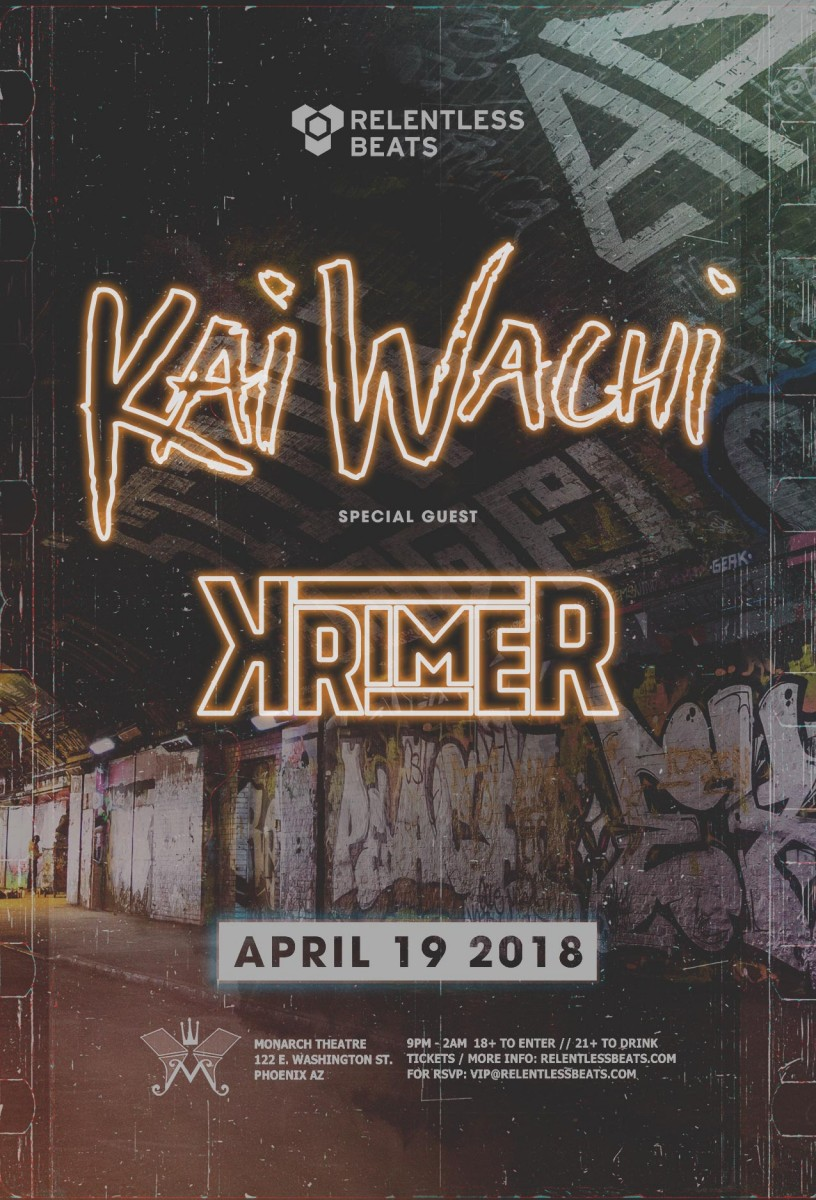 Flyer for Kai Wachi + Krimer
