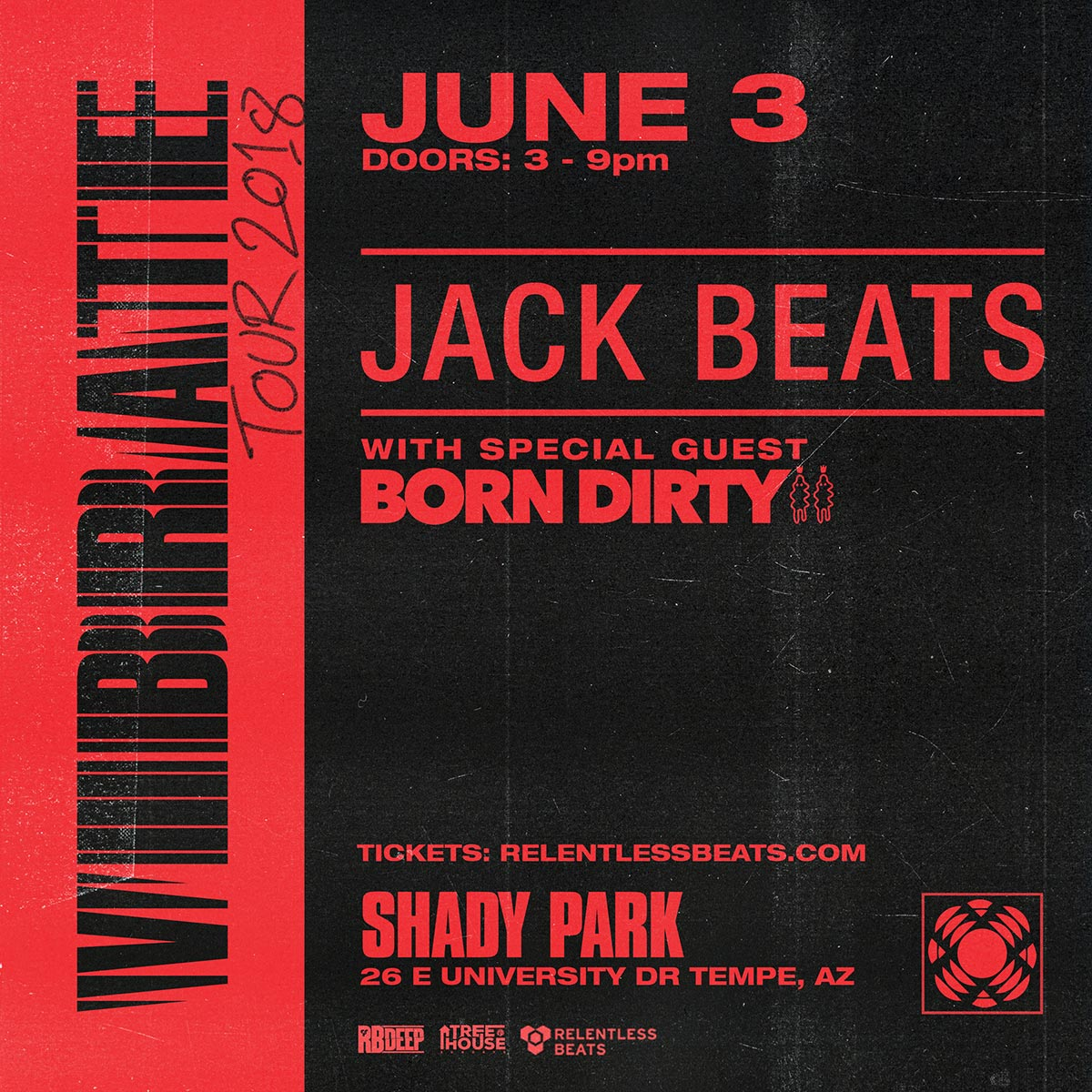 Flyer for Jack Beats & Born Dirty