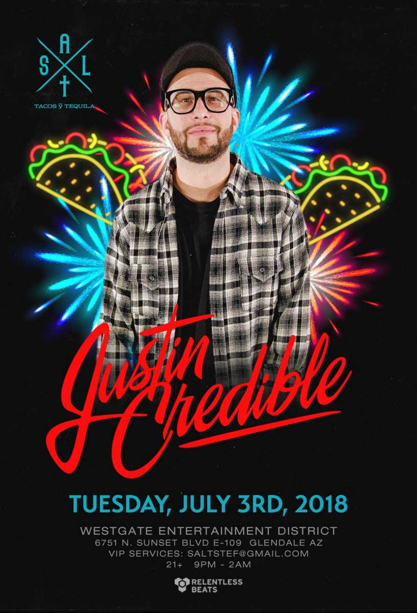 Flyer for Justin Credible