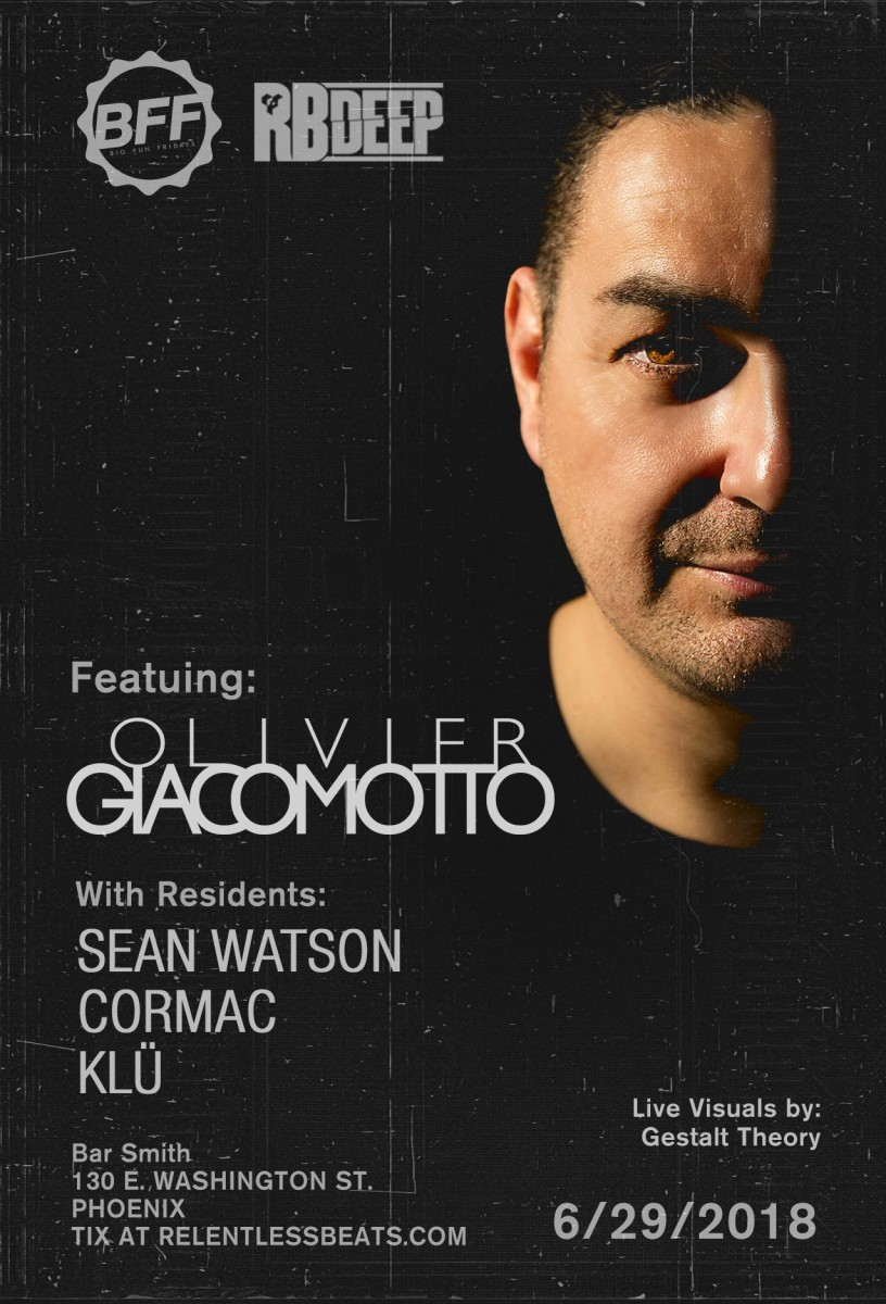 Flyer for Olivier Giacomotto