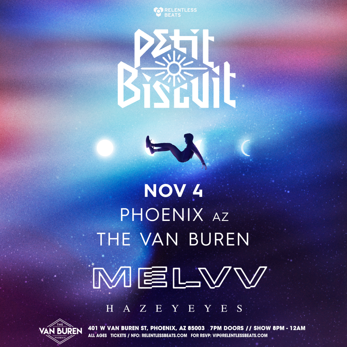 Flyer for Petit Biscuit