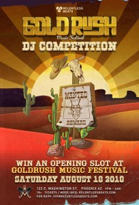 2nd Annual Goldrush DJ Competition on 08/18/18