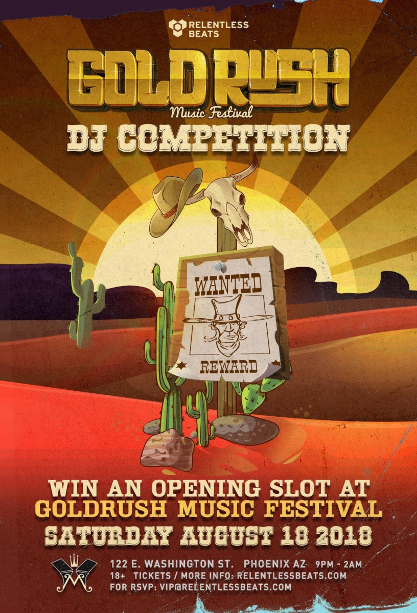 Flyer for 2nd Annual Goldrush DJ Competition