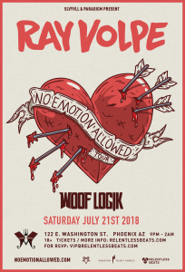 Ray Volpe + Woof Logik on 07/21/18
