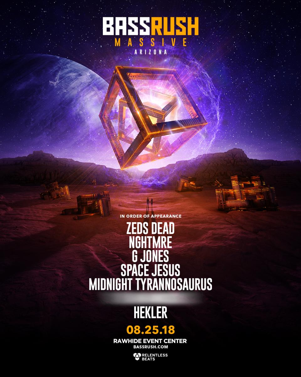 Flyer for Bassrush Massive Arizona 2018