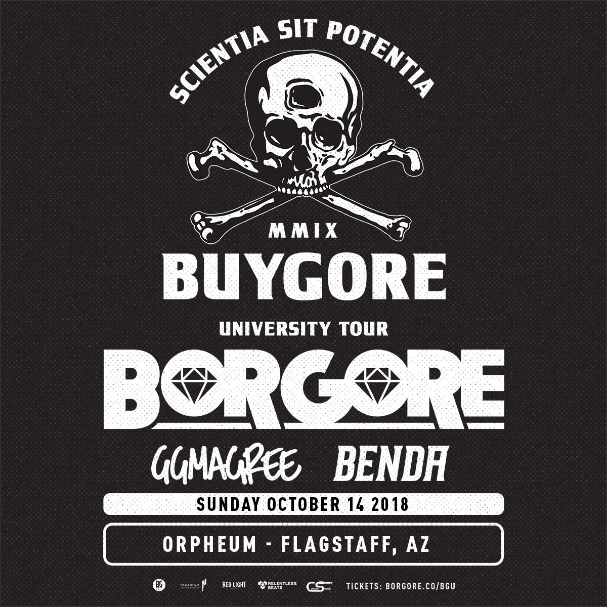 Flyer for Borgore  – Flagstaff