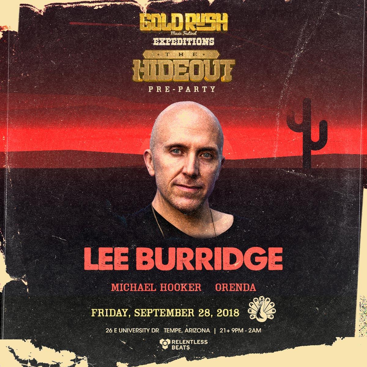 Flyer for Lee Burridge