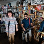 Hobo Johnson and The Lovemakers perform a Tiny Desk Concert on Sept. 4, 2018 (John Poole/NPR).