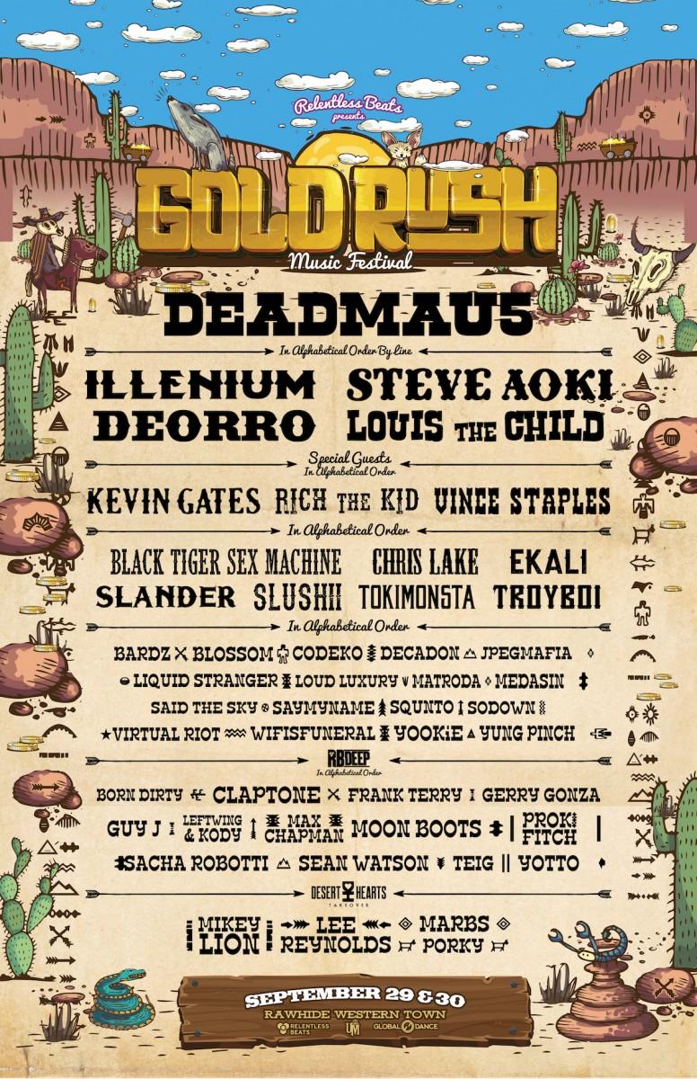 Flyer for Goldrush 2018
