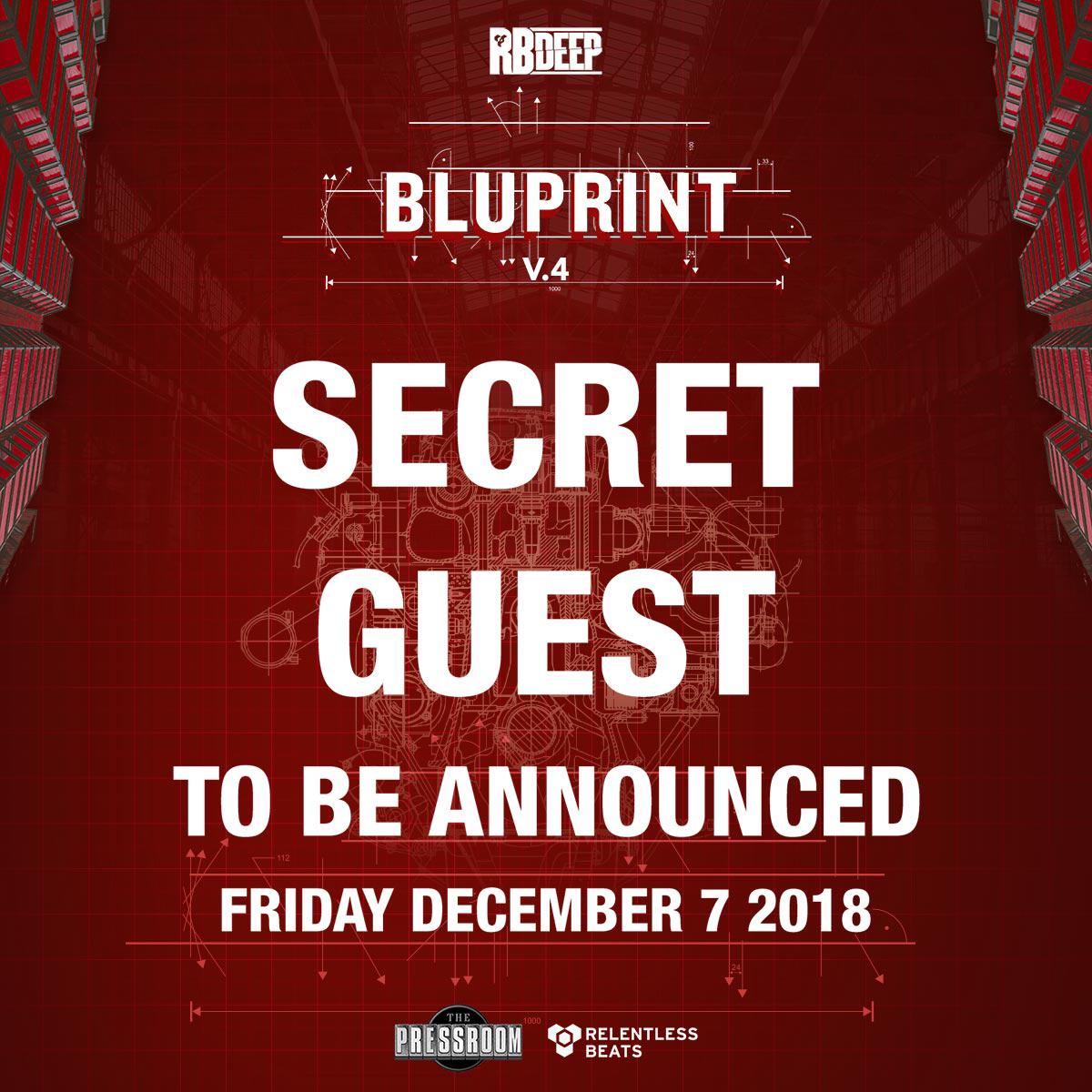 Flyer for Bluprint v.4 - Secret Guest