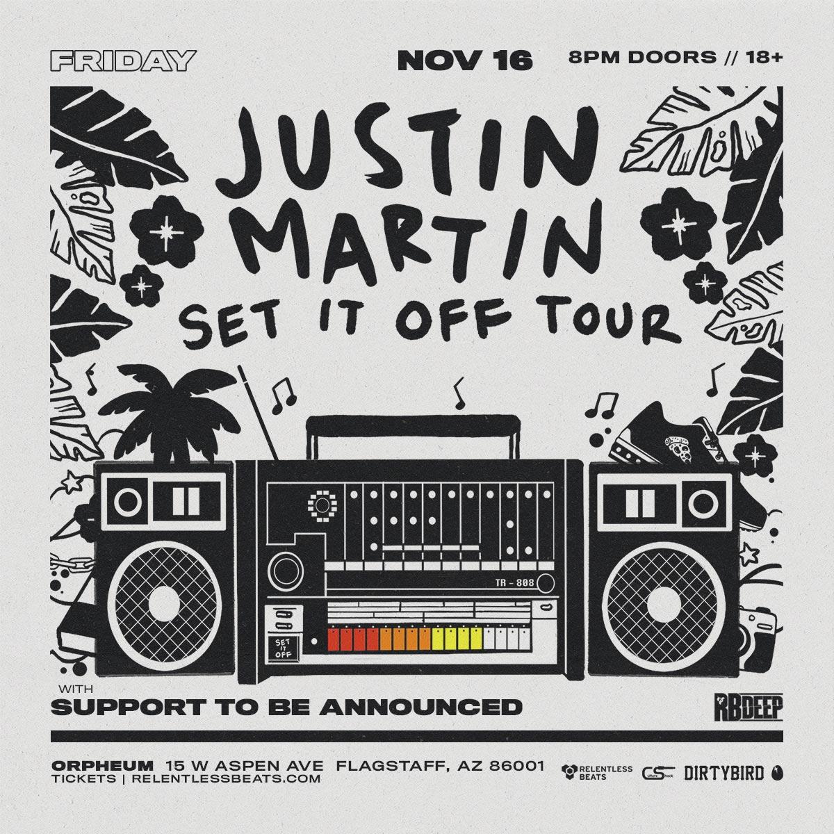 Flyer for Justin Martin