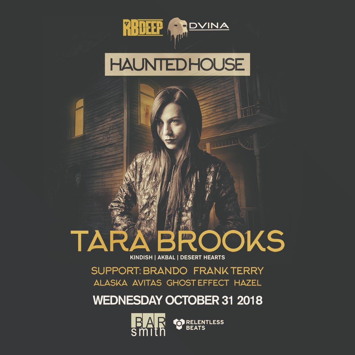 Flyer for Tara Brooks - Haunted House