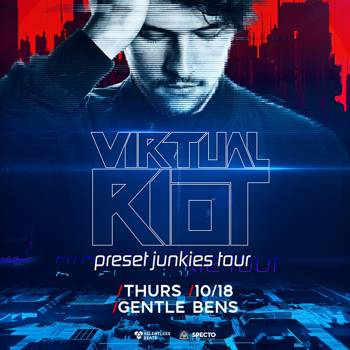 Flyer for Virtual Riot