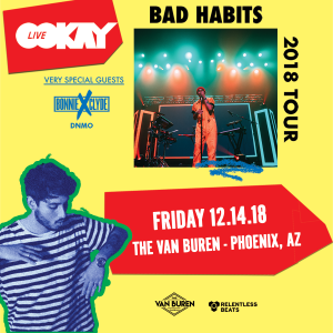 Ookay Live Phoenix Photos - 12/14/18 - The Van Buren | Relentless Beats