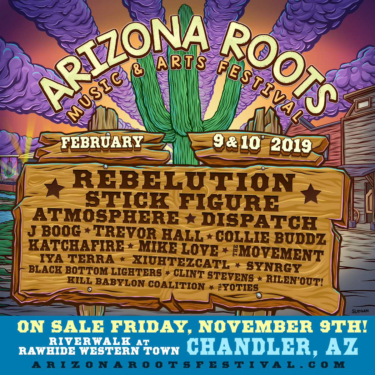 Flyer for Arizona Roots 2019