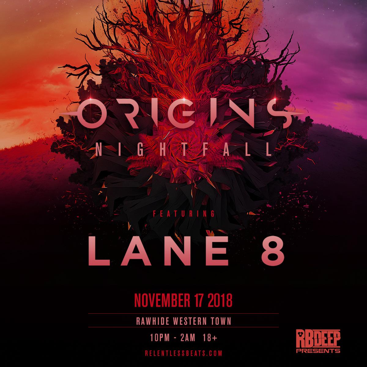 Flyer for Origins Nightfall: Lane 8