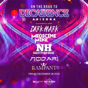 On The Road to Decadence Arizona - Decadence Pre-Party on 12/28/18