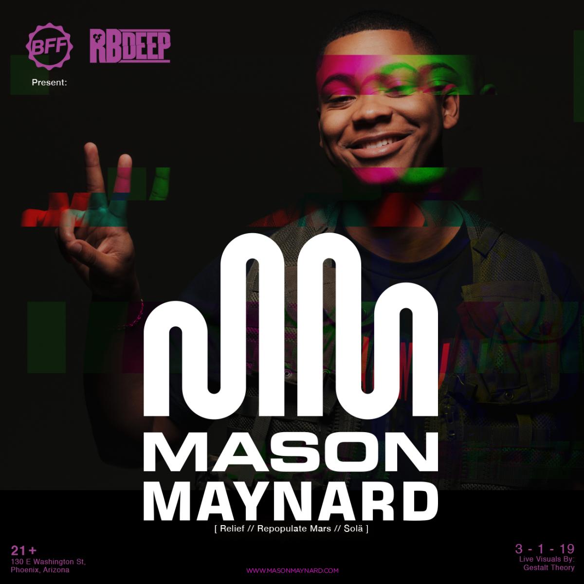 Flyer for Mason Maynard