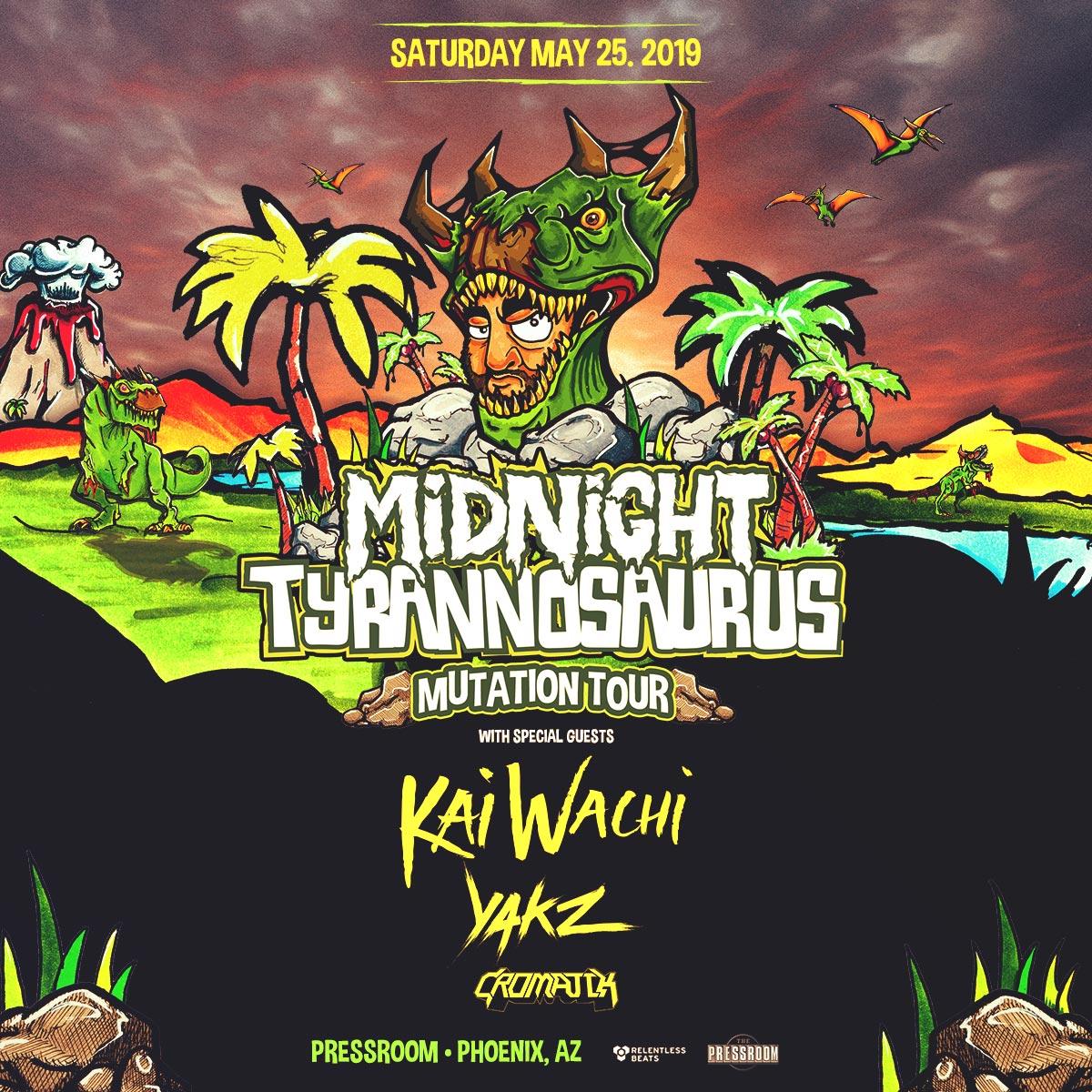 Flyer for Midnight Tyrannosaurus