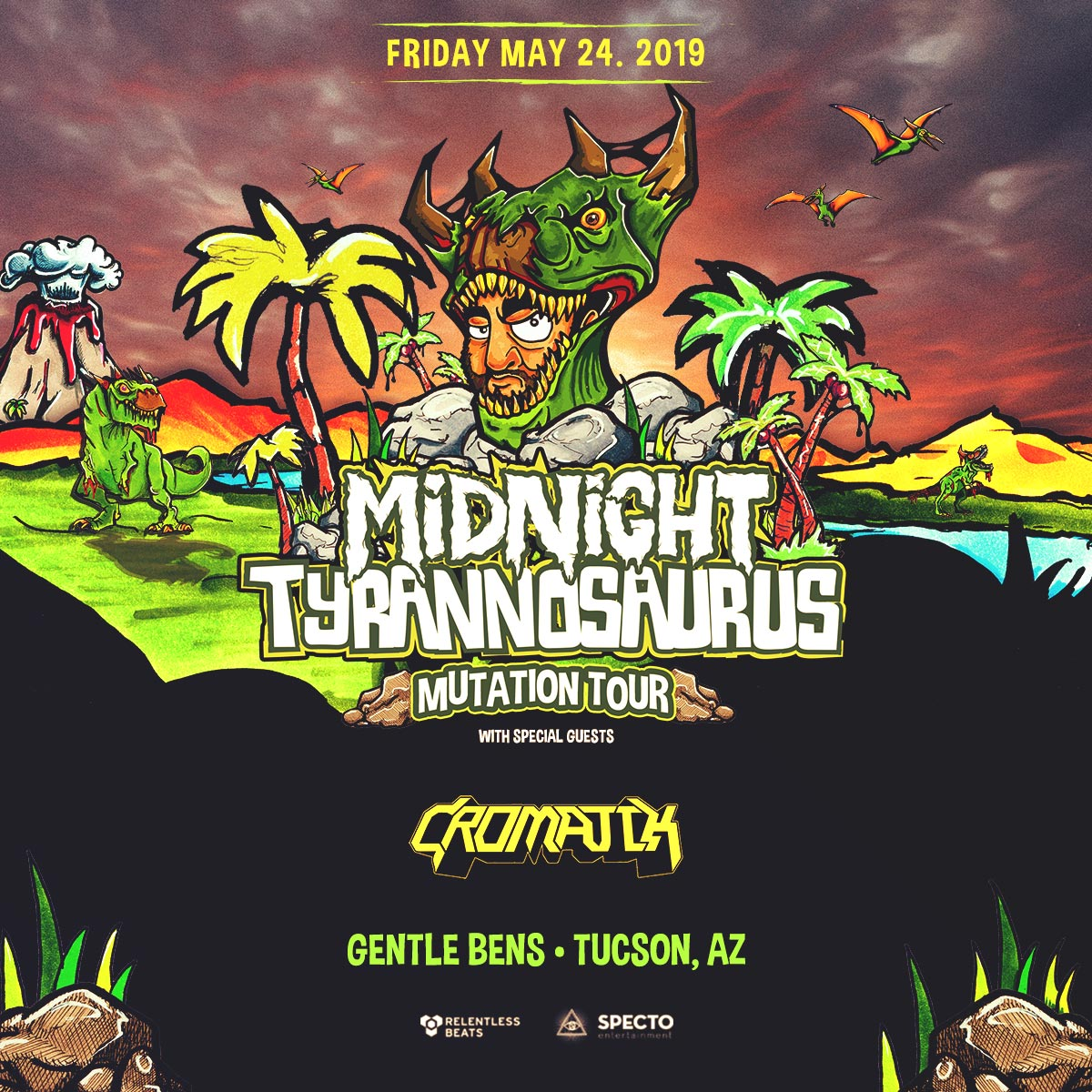 Flyer for Midnight Tyrannosaurus