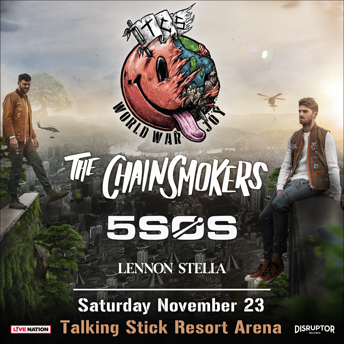 Flyer for Chainsmokers & 5 Seconds of Summer