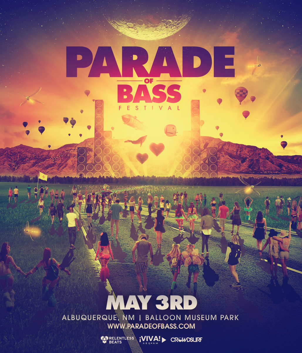 Flyer for Parade of Bass Festival