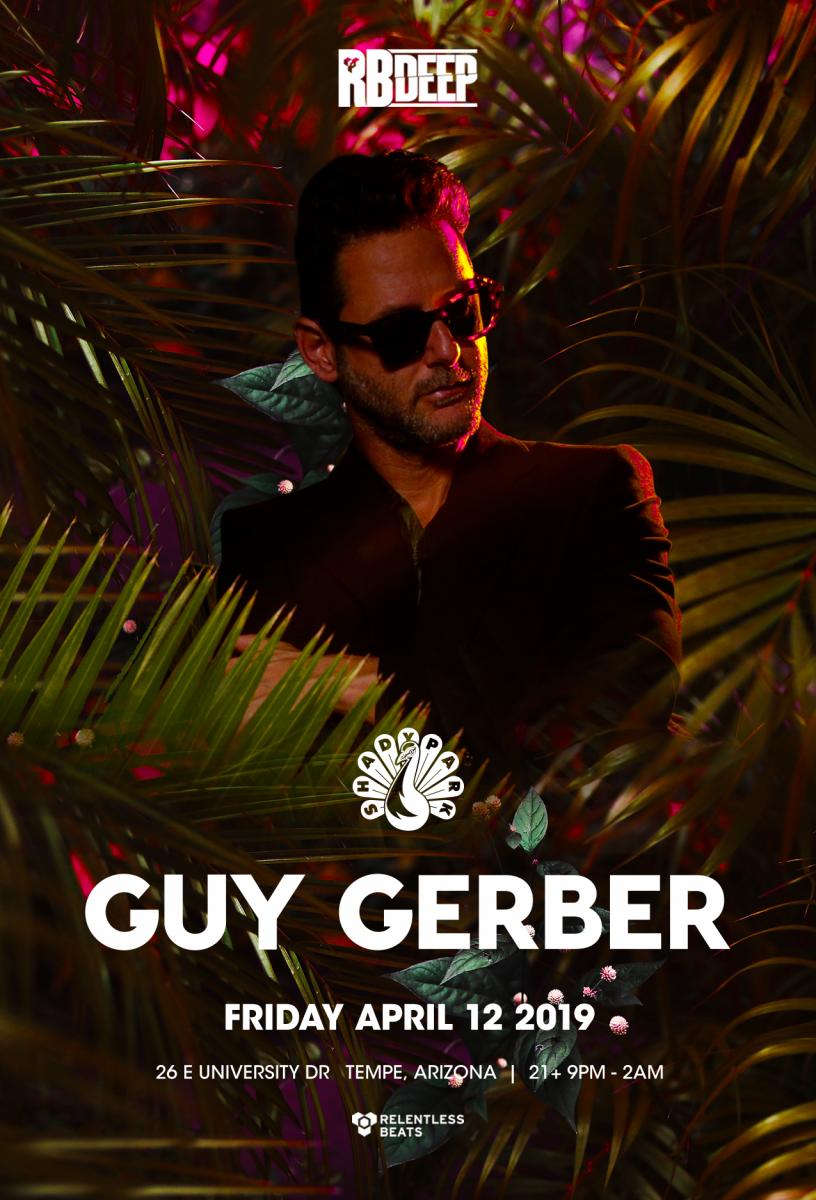 Flyer for Guy Gerber